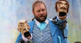 Matthew John Lundvall as Falstaff in A Company of Fools presentation of The Merry Wives of Windsor